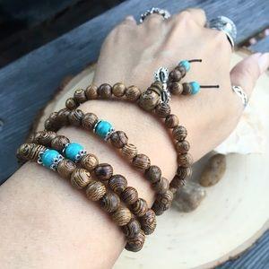 🆕 8mm Sandalwood Mala Prayer Bead Necklace.